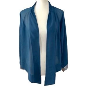 Soft Surroundings Dusky Blue Sheer Jacket